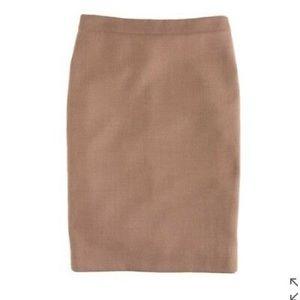 Jcrew double serge wool pencil skirt BNWT 2p